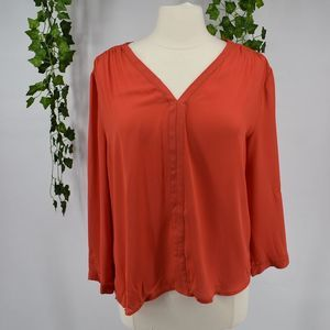 Fun2Fun classic retro open back red blouse L